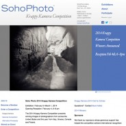 2014 Krappy Kamera Competition Award and exhibition in Soho Photo Gallery, New York